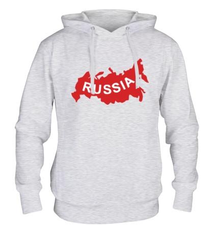 Толстовка с капюшоном Карта России