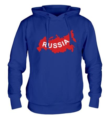 Толстовка с капюшоном «Карта России»
