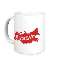 Керамическая кружка Карта России