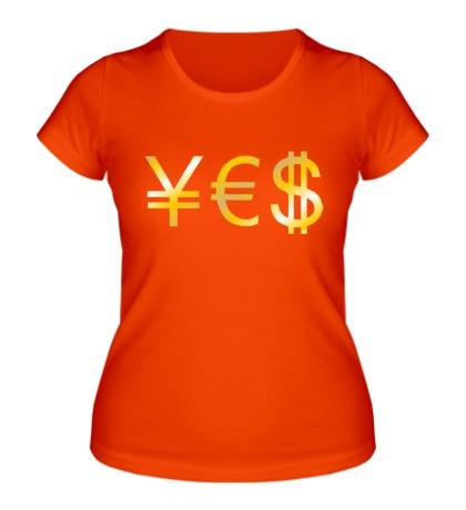 Женская футболка Yes Money