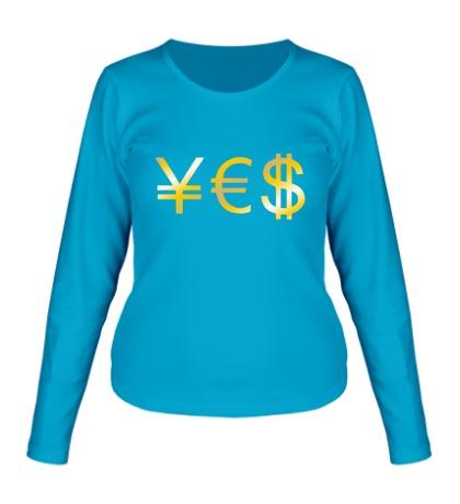 Женский лонгслив Yes Money