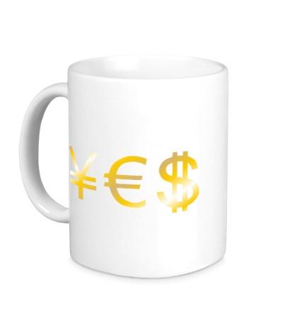 Керамическая кружка Yes Money