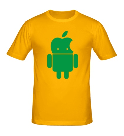 Мужская футболка Андроид яблокоголовый