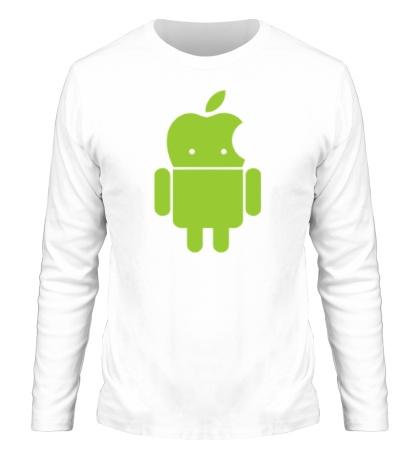 Мужской лонгслив Андроид яблокоголовый