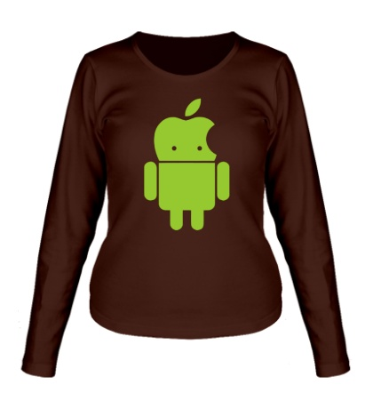 Женский лонгслив Андроид яблокоголовый