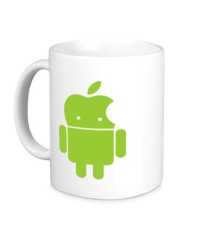 Керамическая кружка Андроид яблокоголовый