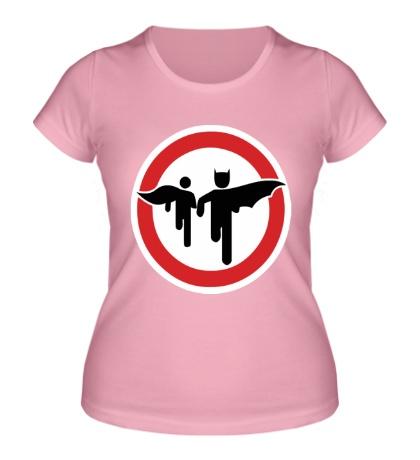 Женская футболка Бетмен и Робин