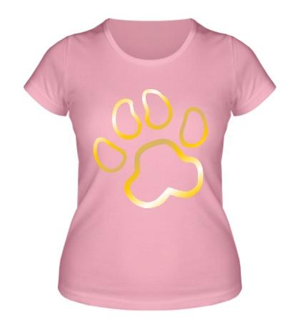 Женская футболка Кошачья лапка