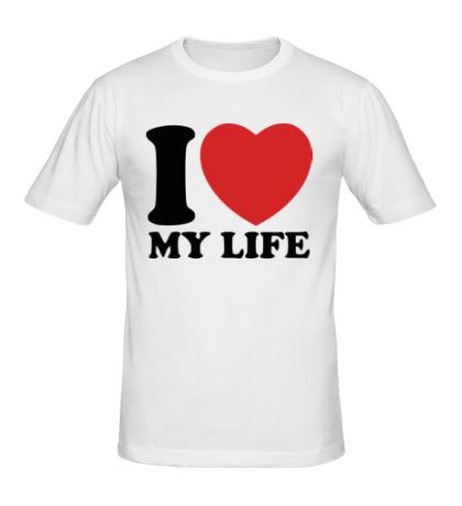 Мужская футболка I love my life