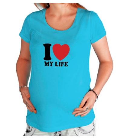 Футболка для беременной I love my life