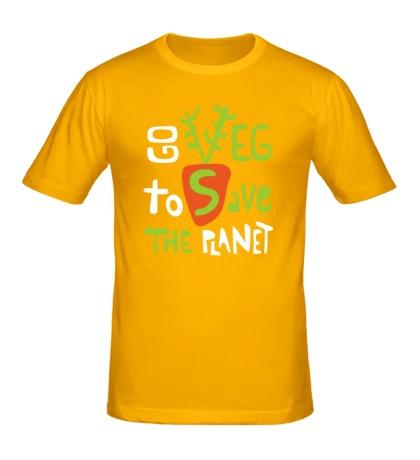 Мужская футболка Go veg to save the planet