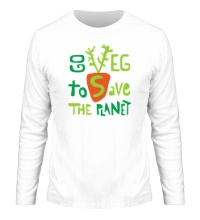 Мужской лонгслив Go veg to save the planet