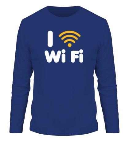 Мужской лонгслив I love Wi Fi
