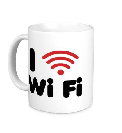Керамическая кружка I love Wi Fi