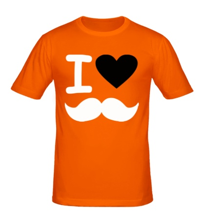 Мужская футболка Я люблю хипстеров