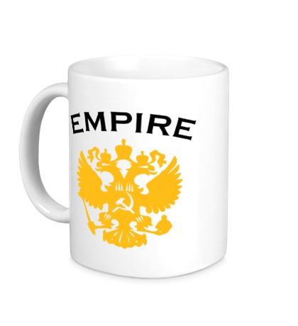 Керамическая кружка Герб Russian Empire