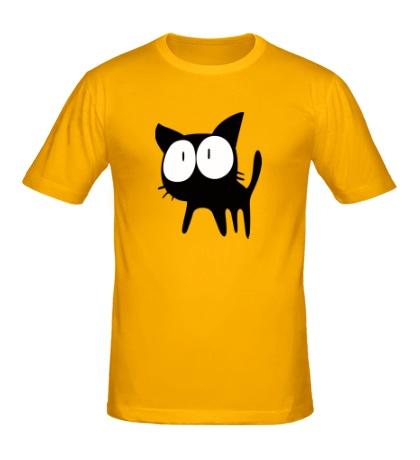 Мужская футболка Удивленный котенок