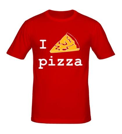 Мужская футболка I love Pizza