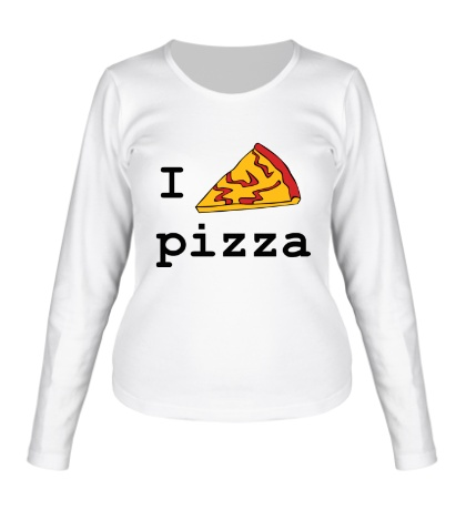 Женский лонгслив I love Pizza