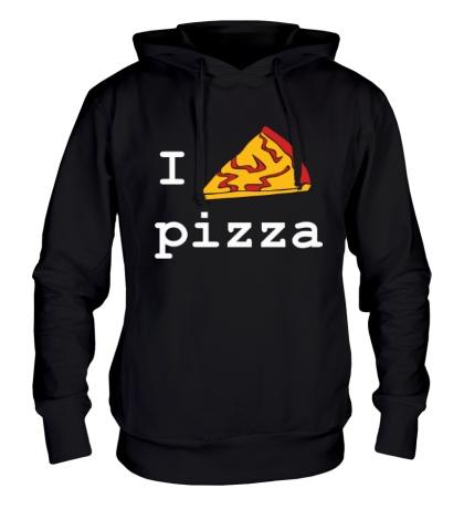 Толстовка с капюшоном I love Pizza
