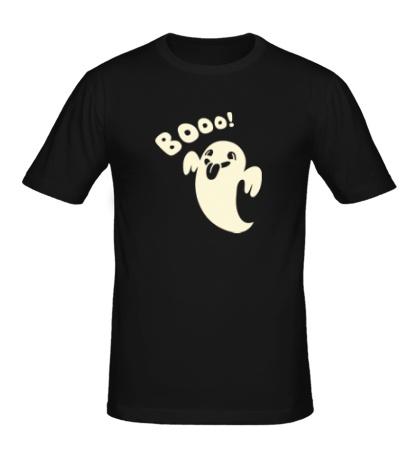 Мужская футболка Веселое привидение, свет
