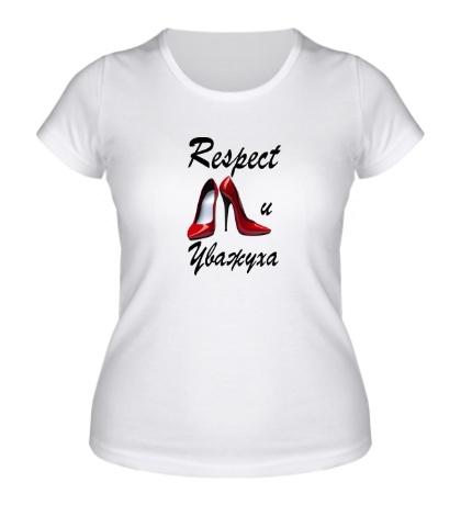 Женская футболка Уважуха каблукам