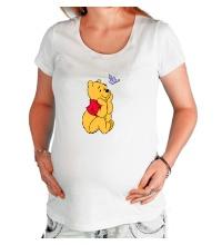 Футболка для беременной Винни Пух мечтает
