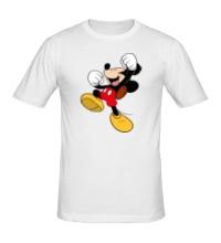 Мужская футболка Счастливый Микки Маус