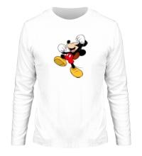 Мужской лонгслив Счастливый Микки Маус