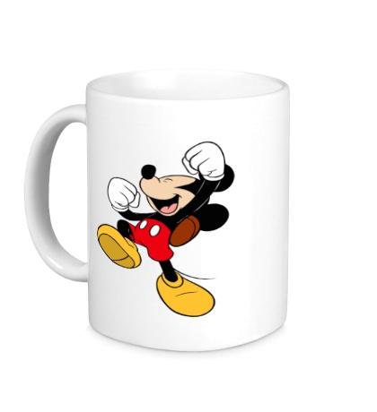 Керамическая кружка Счастливый Микки Маус