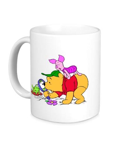 Керамическая кружка Винни Пух и лягушка