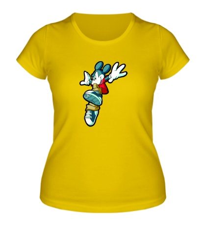 Женская футболка Микки Маус прыгает