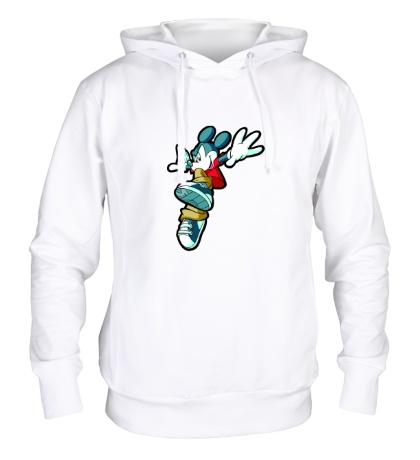 Толстовка с капюшоном Микки Маус прыгает