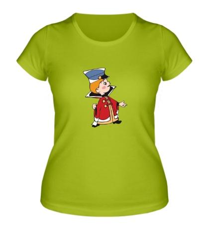 Женская футболка Вовка
