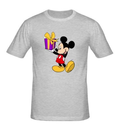 Мужская футболка Микки Маус с подарком
