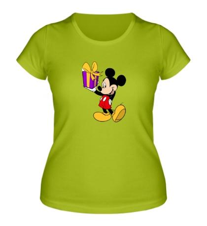 Женская футболка Микки Маус с подарком