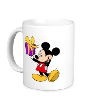 Керамическая кружка Микки Маус с подарком