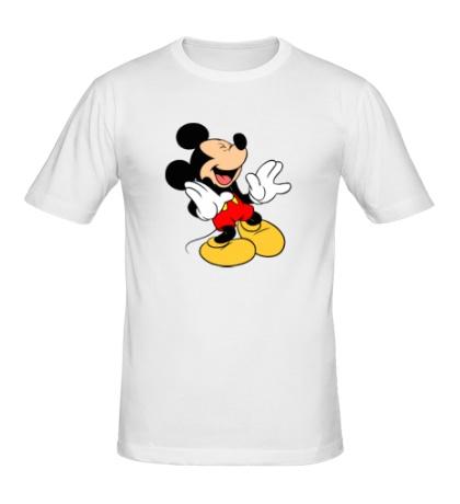 Мужская футболка Микки Маус смеется
