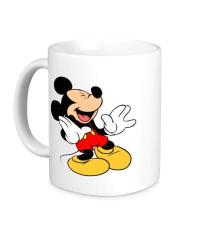 Керамическая кружка Микки Маус смеется
