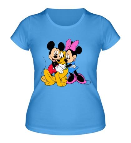 Женская футболка Микки, Минни и Плуто