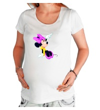 Футболка для беременной Минни Маус мечтает
