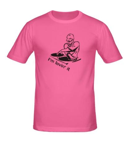 Мужская футболка Dj, I am lovin it