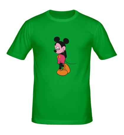 Мужская футболка Стеснительный Микки