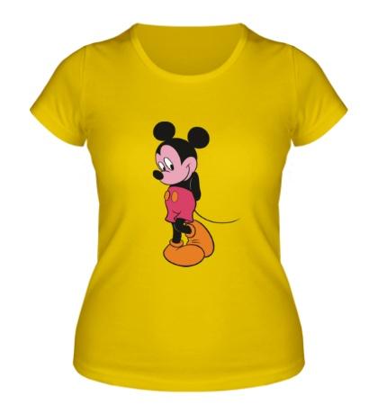 Женская футболка Стеснительный Микки