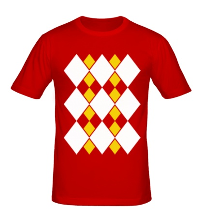 Мужская футболка Ромбический узор