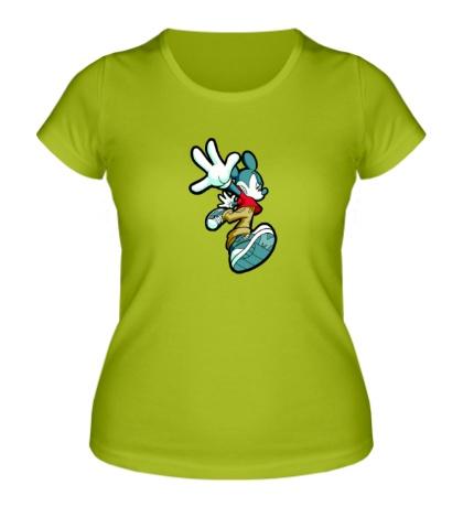 Женская футболка Злой Микки Маус