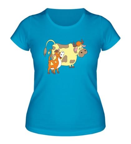 Женская футболка Каникулы в Простоквашино
