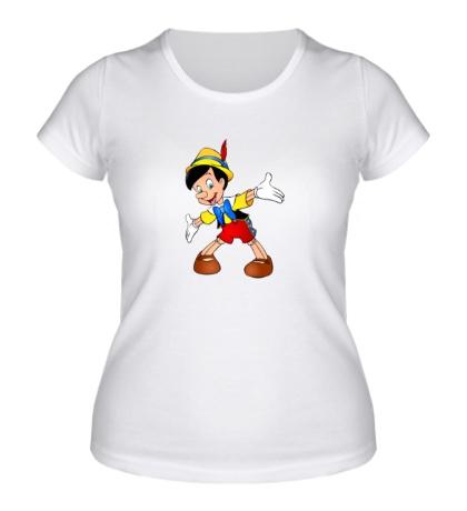 Женская футболка Пиноккио