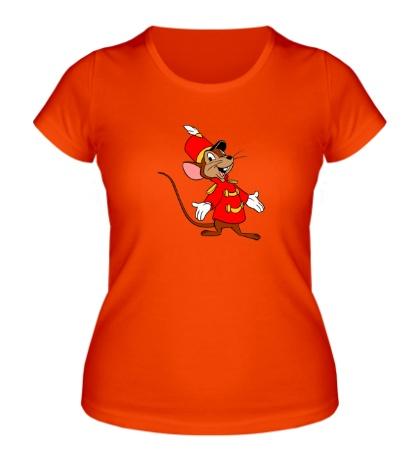 Женская футболка Мышь-швейцар