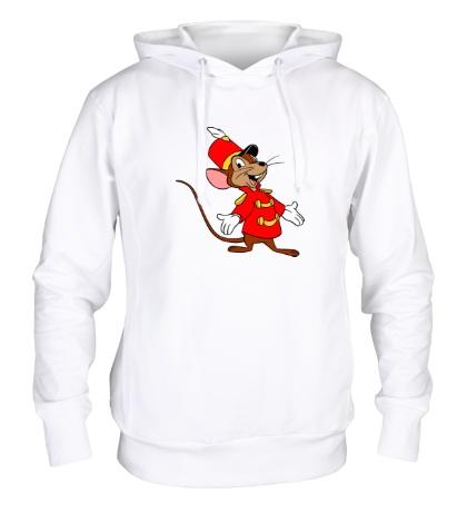 Толстовка с капюшоном Мышь-швейцар
